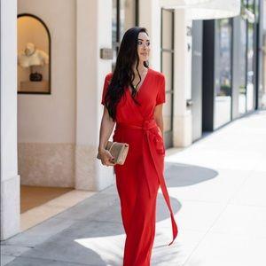 Diane Von Furstenberg Pants - Stunning DVF red jumpsuit